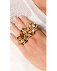 Luv Aj | Metallic Crystal Chunk Knuckle Buster Ring | Lyst