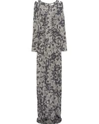 Matthew Williamson | Gray Printed Satin-jersey Gown | Lyst