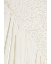 Rosamosario - White Principessa Dellamore Silk-chiffon Chemise - Lyst