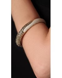 Belle Noel - Metallic Nugget and Leather Bangle - Lyst
