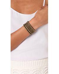 Club Monaco - Black Bonnie Wrap Bracelet / Necklace - Lyst