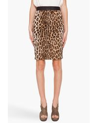 Elizabeth and James | Multicolor Leopard Pencil Skirt | Lyst