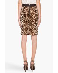 Elizabeth and James - Multicolor Leopard Pencil Skirt - Lyst