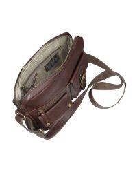 Fossil | Brown Decker - Leather Commuter Satchel Bag for Men | Lyst