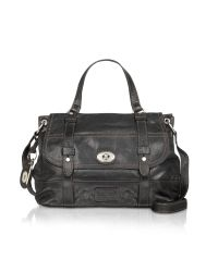 Fossil | Black Heirloom - Leather Messenger Bag | Lyst