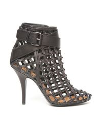 Givenchy | Black Ankle-wrap Cage Bootie | Lyst