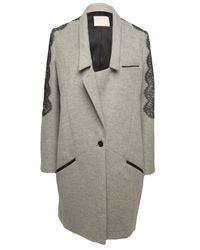 Jason Wu | Gray Richelieu A Lace-trim Coat | Lyst