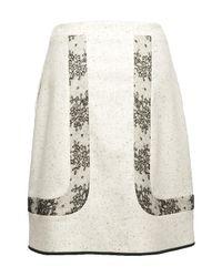 Jason Wu - White Peyton Lace-inset Cutaway Skirt - Lyst