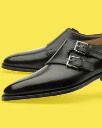 John Lobb - Black Chapel Buckle Loafer for Men - Lyst