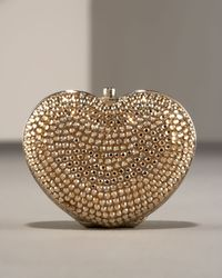 Judith Leiber | Metallic Heart Pillbox | Lyst