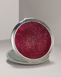 Judith Leiber | Red Crystal-detailed Compact Mirror | Lyst
