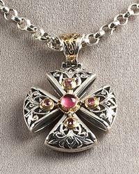 Konstantino | Metallic Ornate Cross Pendant | Lyst