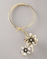 Lanvin | Metallic Detachable Flower Pendant Necklace | Lyst