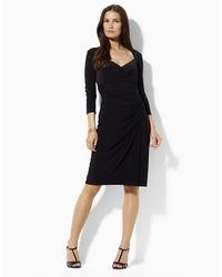 Lauren by Ralph Lauren - Black Plus Crepe Shift Dress - Lyst