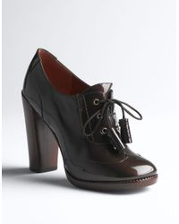 Marc By Marc Jacobs - Brown Patent Leather Oxford Pumps - Lyst