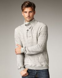 Bliss and Mischief | Gray Pablo Toggle-neck Sweater for Men | Lyst