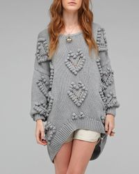 One Teaspoon | Gray Heartless Knit | Lyst