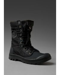 Palladium | Ballistic Nylon & Specialty Leather Combo Pampa Tactical in Black/metal for Men | Lyst