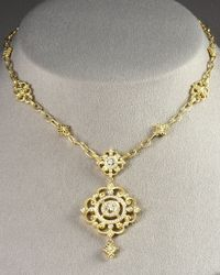 Penny Preville | Metallic Imperial Pendant Necklace | Lyst