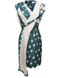 Peter Pilotto - Green Thessa Asymmetrical Dress - Lyst