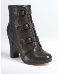 Plenty by Tracy Reese - Gray Emma Buckle Booties - Lyst