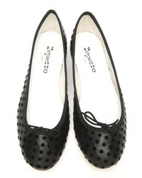 Repetto - Black Bb Dot Ballet Flat - Lyst