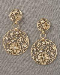 Roberto Coin - Metallic Mauresque Two-drop Earrings - Lyst