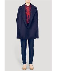 Stella McCartney - Black Edith Oversized Wool Coat - Lyst