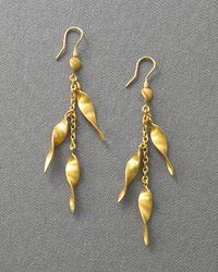 Yossi Harari - Metallic 24k Gold Twist Earrings - Lyst