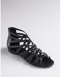 BCBGeneration | Black Rouge Strappy Gladiator Sandals | Lyst