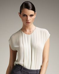 Robert Rodriguez | White Pintucked Chiffon Blouse | Lyst