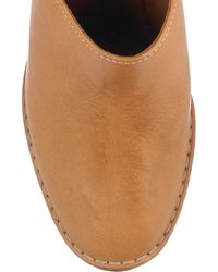 Chloé | Brown Leather Wedge Mules | Lyst