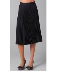 MILLY - Blue Darcie Pleated Skirt - Lyst