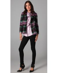 MILLY - Multicolor Mohair Plaid Stanley Jacket - Lyst