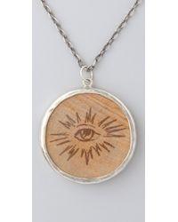 Pamela Love - Metallic Wooden Nickel Pendant Necklace - Lyst