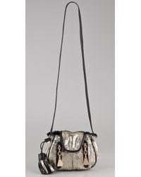 See By Chloé - Metallic Cherry Feather Mini Cross Body Bag - Lyst