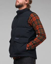 Woolrich | Black Aleutian Vest for Men | Lyst