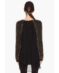 3.1 Phillip Lim - Black Beaded Long Sleeve Top - Lyst