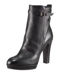 Alberto Fermani | Black High-heel Ankle Boot | Lyst