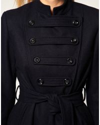 ASOS Collection - Blue Asos Petite Exclusive Military Coat - Lyst