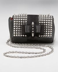 Christian Louboutin | Black Sweet Charity Spike-studded Bag | Lyst