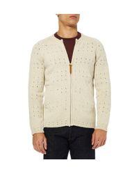Folk - Natural Pointelle Knit Cardigan for Men - Lyst