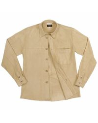 FORZIERI - Natural Mens Beige Italian Suede Leather Shirt-jacket for Men - Lyst