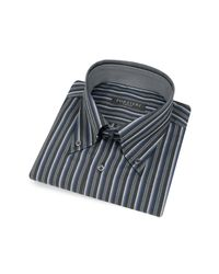 FORZIERI | Black Striped Button Down Cotton Italian Dress Shirt for Men | Lyst