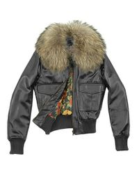 FORZIERI | Womens Fur Collar Black Italian Leather Jacket | Lyst