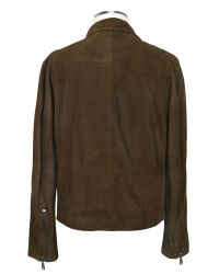 FORZIERI | Brown Four-pocket Leather Zip Jacket for Men | Lyst