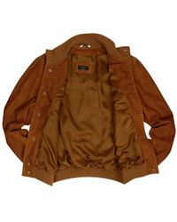 FORZIERI - Mens Brown Italian Suede Two-pocket Jacket for Men - Lyst