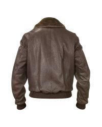 FORZIERI | Mens Dark Brown Leather Bomber Jacket for Men | Lyst