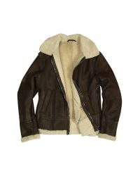 FORZIERI - Mens Dark Brown Shearling Jacket for Men - Lyst