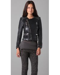IRO | Black Cuzia Sequin Jacket | Lyst